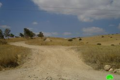 New colonial road in Khallet Hamd/ Tubas Governorate