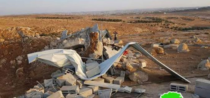 Demolition of constructions in Qawawis – east Yatta –Hebron governorate
