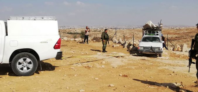 Demolition of a tent and a stop-work order of a cistern in Susiya hamlet/ south Hebron
