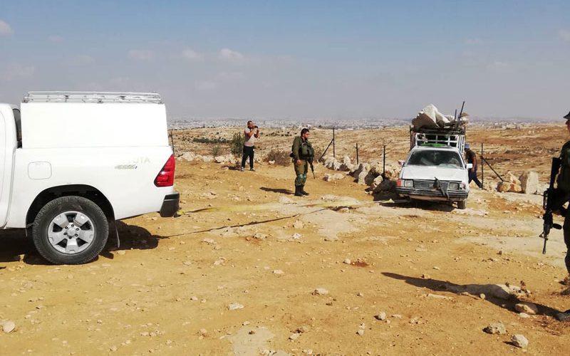 الاحتلال يهدم خيمة ويوقف العمل في بئر مياه بخربة سوسيا جنوب الخليل
