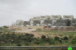 "Expanding ""Leshem"" settlement / Salfit governorate"