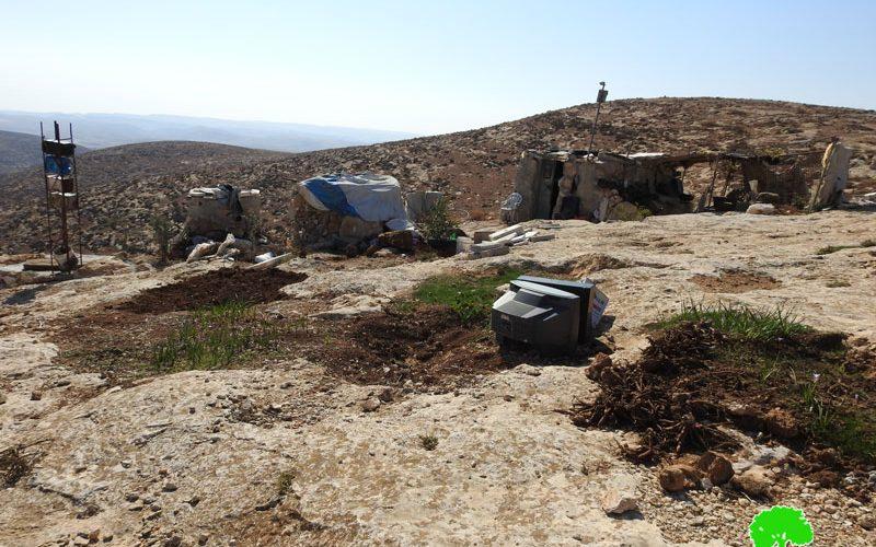 إخطار بإخلاء أراضي في قرية المفقرة شرق يطا / الخليل