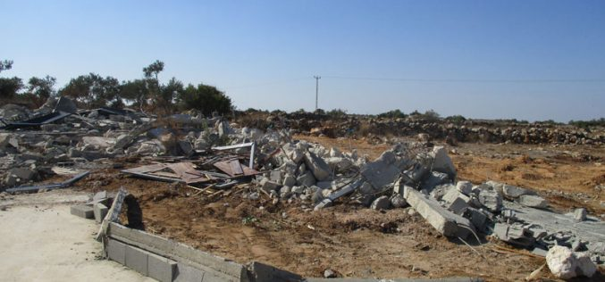 Demolition of residential and agricultural structures in Rantis village/ Ramallah