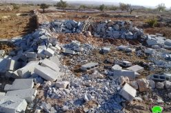 Demolition of an agricultural room in Khallet Al-Furn/ Hebron governorate
