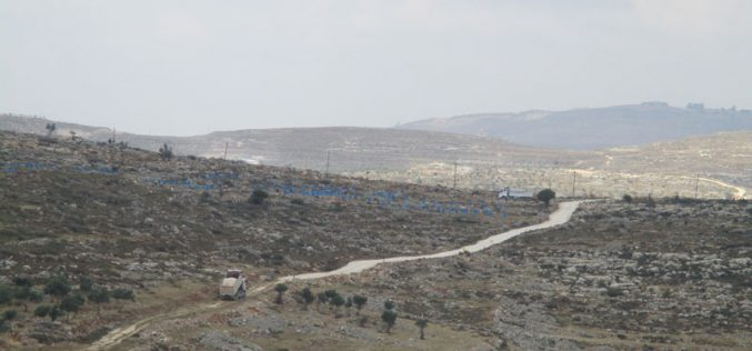 "Rehabilitation works on colonial roads for ""Kfar Tapuah"" settlement / Salfit governorate"
