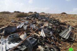 الاحتلال يهدم مساكن ومنشآت زراعية في قرية بردلة / محافظة طوباس