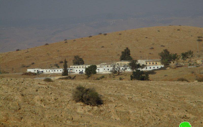"""الشروع بتوسعة نفوذ معسكر """" ناحال"""" على أراضي منطقة واد المالح / محافظة طوباس"""