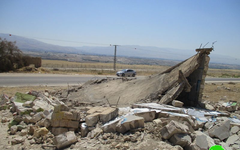 Demolition of an agricultural structure in Um Al-Ibar/ Jericho governorate