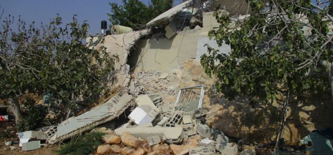 Demolition of Martyr Mohammad Dar Yusif family home in Kubar village / Ramallah governorate