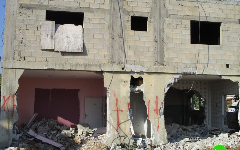 House demolition order in Kubar town / Ramallah governorate