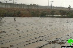 The apartheid wall floods agricultural lands /Tulkarim city
