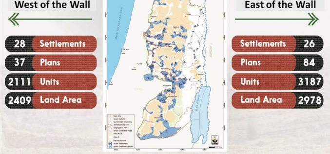 Info-graph: Israeli Settlement Plans in the occupied West Bank during 2018