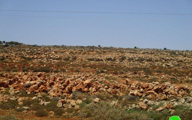 The Israeli occupation forces Halt rehabilitation work on agricultural lands in Sir / Qalqilya governorate