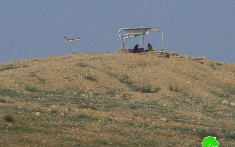 اغلاق مساحات من الأراضي الرعوية شمال شرق خربة الفارسية على يد المستعمرين