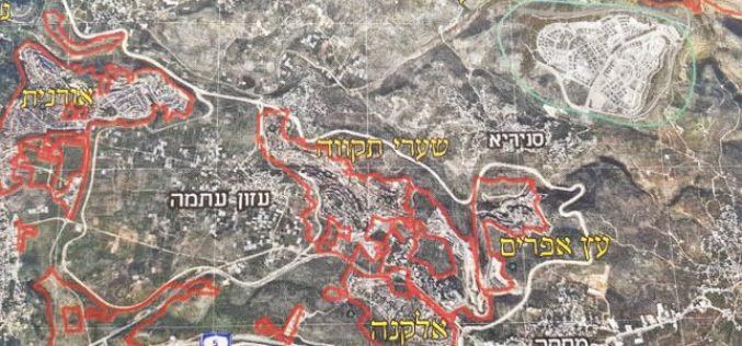 اسرائيل تخطط لبناء 2000 وحدة استيطانية جديدة على اراضي محافظتي قلقيلية وسلفيت