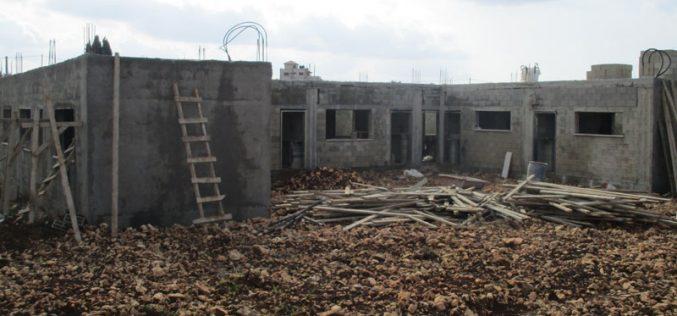 Israeli military order targeting At-Tahadi (15) school in Dhaher Al-Malih/ Jenin