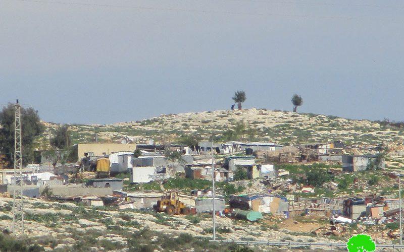 The Israeli occupation served Halt-of-work order to 5 Facilities in Ar-Ramadeen Aj-Janubi community/ Qalqilya