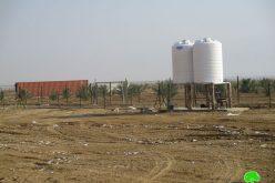 هدم منشآت زراعية في منطقة سهل العوجا / محافظة أريحا