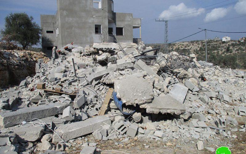 الاحتلال يهدم منزل في خربة إمريحة / محافظة جنين