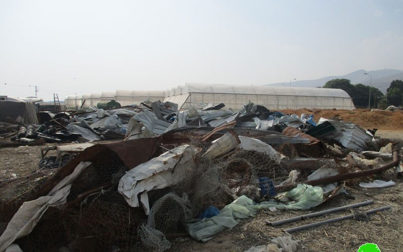 Demolition of an agricultural facility in Aj-Jiftlik  /Jericho governorate