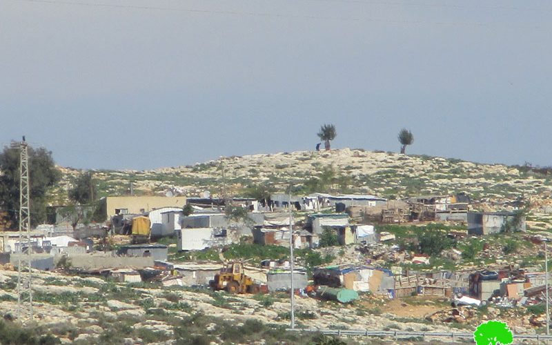 The Israeli occupation served Halt-of-work order to 5 Facilities in Ar-Ramadeen Aj-Janubi community/ Qalqilya