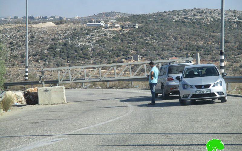 الاحتلال يغلق البوابة الحديدية المقامة على مدخل بلدة كفر الديك الغربي / محافظة سفيت