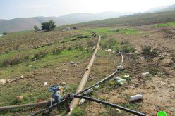 إخطار عسكري بإزالة خط للمياه في منطقة الفارسية / محافظة طوباس