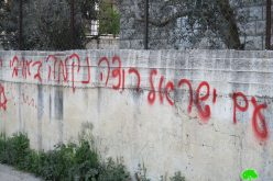 Writing Offensive Slogans and Attacking Palestinian Vehicles
