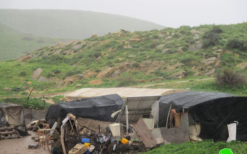 Halt of work military orders on agricultural and residential structures in Khirbet Ras Al-Ahmar/ Tubas governorate