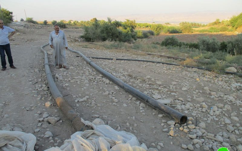Destroying water pipes in Bardala/ Tubas Governorate