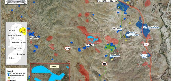 إخطار باستمرار وضع اليد على 267 دونماً من الأراضي الوقفية في منطقة الأغوار الشمالية