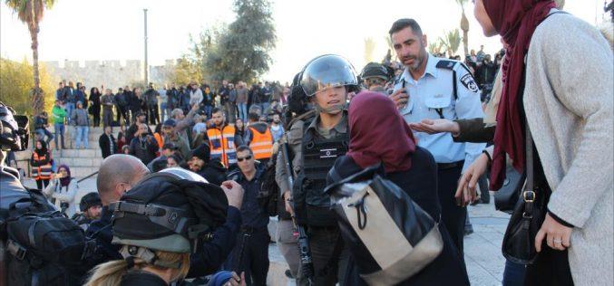 الاحتلال يغلق المسجد الأقصى ويعتدي على المصلين فيه / القدس المحتلة