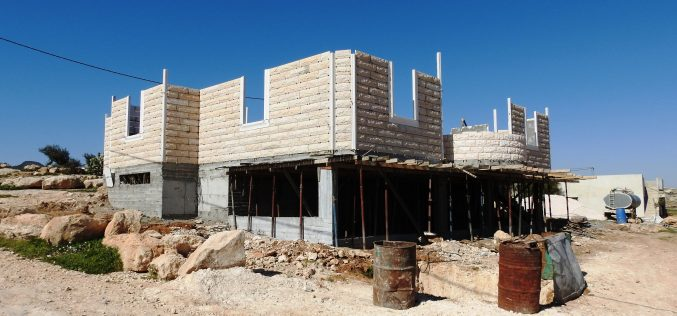 أوامر نهائية بهدم مسكن ومنشآت زراعية في الجوايا شرق يطا / محافظة الخليل