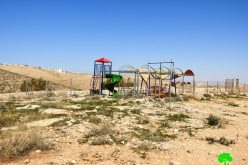The occupation threatens to demolish a playground in Umm Al-Khair – East Yatta/ Hebron governorate