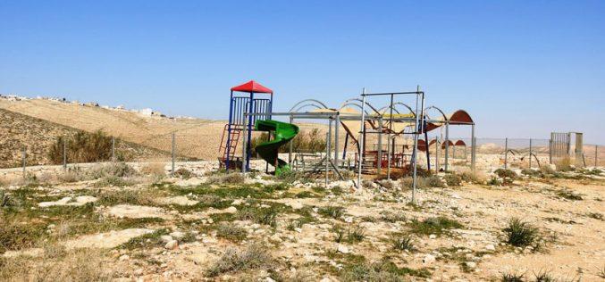 الاحتلال يهدد بهدم حديقة العاب في أم الخير شرق يطا / محافظة الخليل