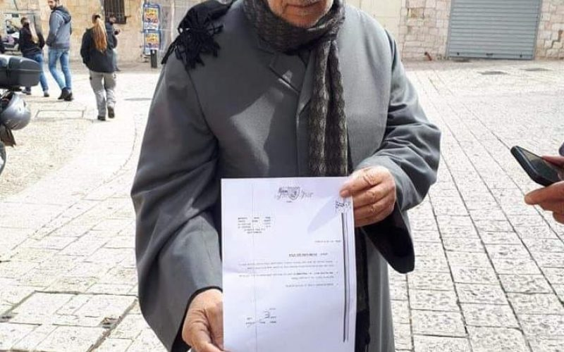 The Israeli occupation authorities ban tens of Jerusalemites from entering Al-Aqsa mosque/ occupied Jerusalem