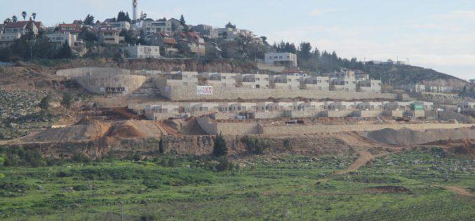 """الانتهاء من إنشاء حي استعماري جديد في مستعمرة """" شيلو"""" على أراض بلدة ترمسعيا / محافظة رام الله"""