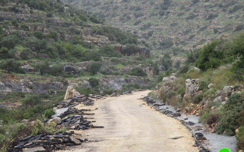 Destroying As-Sa'adah street in Kubar – North Ramallah