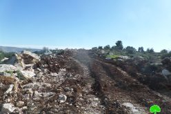 Halt of Work order on an agricultural road in Idhna / East Hebron