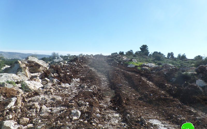 Halt of Work order on an agricultural road in Idhna / East Hebron