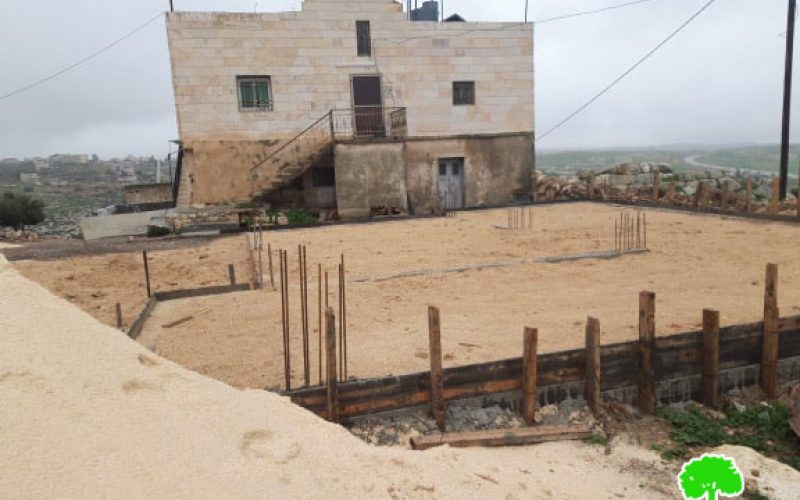 Serving Halt of work order on a house in As-Semya/ Hebron governorate