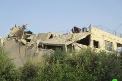 The occupation demolished Omar Abu Layla family home – Az-Zawiya / Salfit governorate