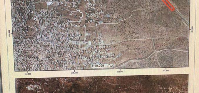 إخطار عسكري بوضع اليد على 15 دونماً من أراضي بلدة عزون لأغراض عسكرية / محافظة قلقيلية