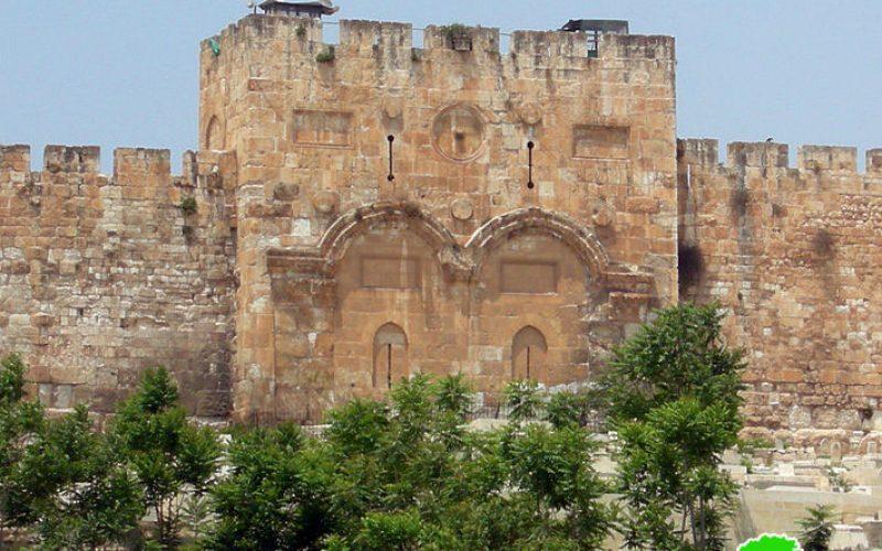 The occupation authorities seal off Al-Rahma gate / occupied Jerusalem
