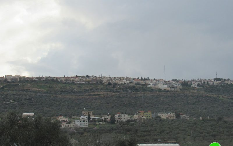 The occupation installs a sewer pipe for Ariel colony North West Salfit