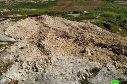 "The occupation force a farmer to dump a cistern in ""Umm Near"" south Yatta / Hebron Governorate"