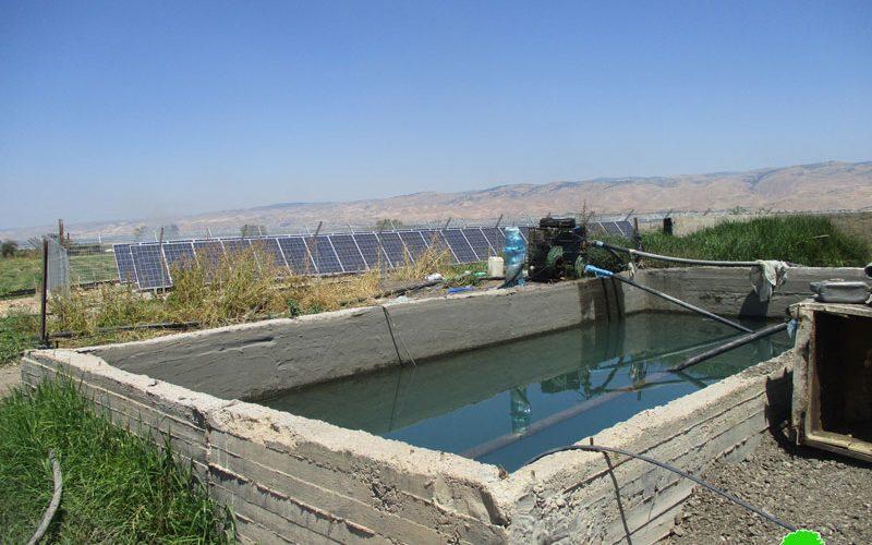 إخطار بوقف العمل في محطة للطاقة الشمسية في خربة الدير / محافظة طوباس