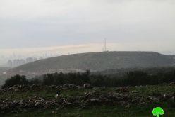 إعطاء الضوء الأخضر لشركة إسرائيلية خاصة بالتخطيط على أراضي قرية رافات / محافظة سلفيت