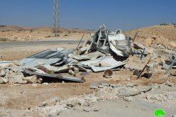 الاحتلال يهدم مسكناً في أم الخير شرق يطا / محافظة الخير