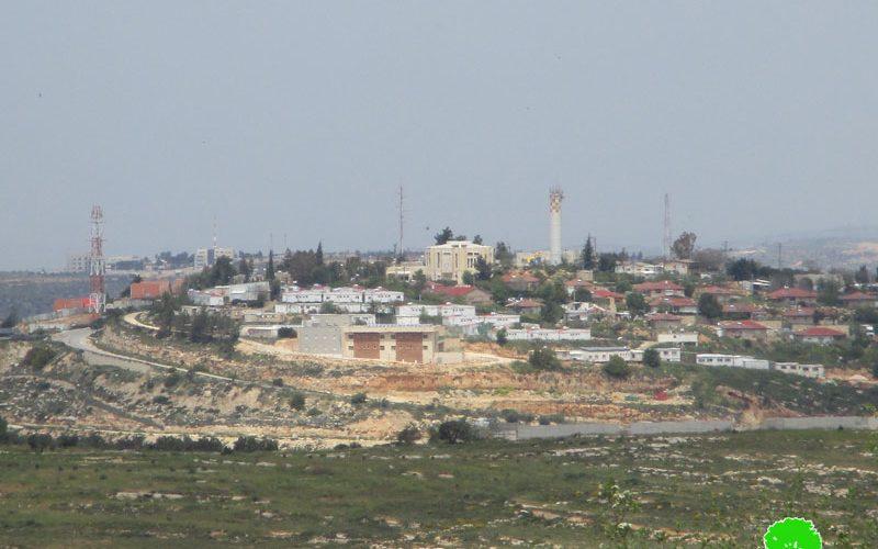 """الشروع بتوسعة مستعمرة """" معاليه لبونه"""" شمال مدينة رام الله"""
